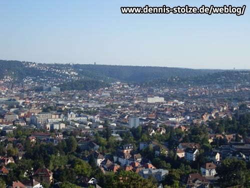 Blick auf den Stuttgarter Westen